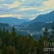 Tantalus Mountain Afternoon Landscape Art Print