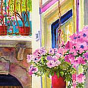 Taormina- Hanging Petunias Art Print