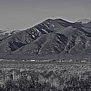 Taos In Black And White II Art Print