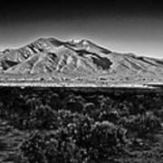 Taos In Black And White X Art Print