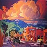 Taos Inn Monsoon Art Print