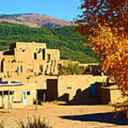 Taos Pueblo South In Autumn Art Print