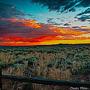 Taos Sunset Xi Art Print