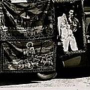 Tapestries Of  Elvis Presley  Hawai Concert Jesus Christ Sheep Horses Flags Armory Park Tucson Az Art Print