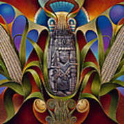 Tapestry Of Gods - Chicomecoatl Art Print