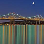 Tappan Zee Bridge Reflections Art Print by Susan Candelario