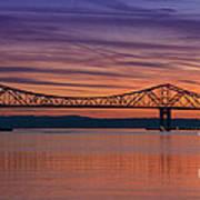 Tappan Zee Bridge Sunset Art Print
