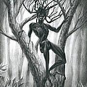 Tar Girl In A Tree Art Print