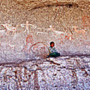 Tarahumara Boy In Painted Cave Near Chihuahua-mexico Art Print