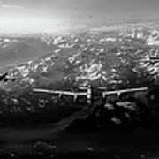 Target Tirpitz In Sight Black And White Version Art Print