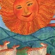 Tarot 19 The Sun Art Print