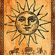 Tarot Card The Sun Print by Cinema Photography