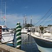 Tarpon Springs Fishing Boats  Art Print