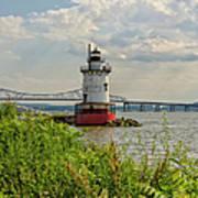 Tarrytown Lighthouse And The Tappan Zee Bridge Art Print