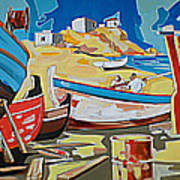 Tarsanas-boatyard Art Print