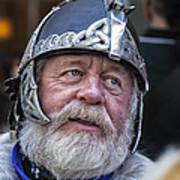 Tartan Day Parade Nyc 2013 Shetland Isle Celtic Warrior Armor Art Print