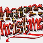 Tartan Merry Christmas Art Print