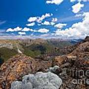 Tasman Mountains Of Kahurangi Np In New Zealand Art Print
