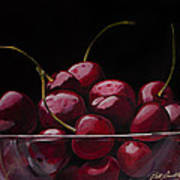 Tasty Cherries Art Print