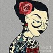 Tattoo Chic Grey Velvet Art Print