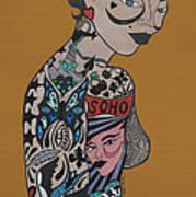 Tattoo Chic Rust Art Print