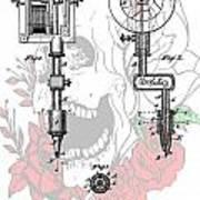 Tattoo Machine Patent Print by Dan Sproul