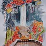 Taughannock Falls Ny In Autumn Art Print