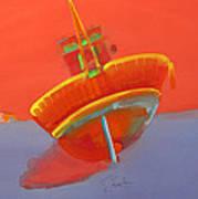 Tavira Fishing Boat Art Print