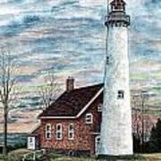 Tawas Point Light Art Print