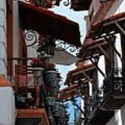 Taxco Balconies Art Print