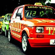 Taxi Line Art Print