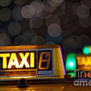Taxi Signs Art Print