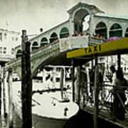 Taxi Venice Italy Style Art Print