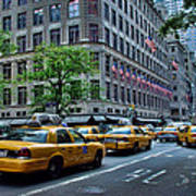 Taxicabs Of New York City Art Print