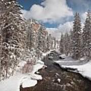 Taylor River Winter Art Print
