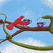 Tea And Eggs Art Print