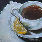 Tea And Lemon Art Print