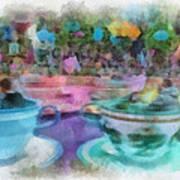 Tea Cup Ride Fantasyland Disneyland Pa 01 Art Print