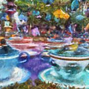 Tea Cup Ride Fantasyland Disneyland Pa 02 Art Print