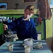 Tea For Three  Me Da Me Ma And Me Art Print