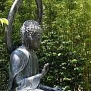 Tea Garden Buddha Art Print