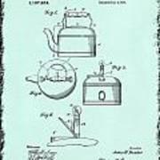 Tea Kettle Patent 1916 Art Print