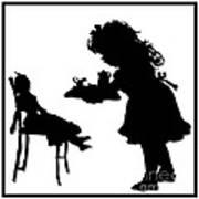 Tea Party Dolly Silhouette Art Print