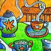 Tea Party Art Print by Doreen Kirk