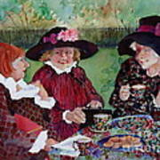 Tea With The Girls Art Print