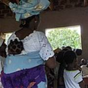 Teacher Backing Her Baby  Art Print