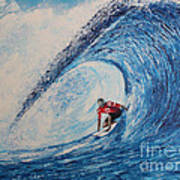 Teahupoo Wave Surfing Art Print