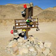 Teakettle Junction in Death Valley  Art Print