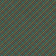 Teal And Green Diagonal Plaid Pattern Fabric Background Art Print