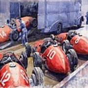 Team Ferrari 500 F2 1952 French Gp Art Print by Yuriy  Shevchuk
